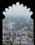 从城市宫殿的乌代浦 库存图片