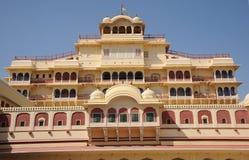 城市宫殿的内部门面,斋浦尔,印度 免版税库存图片