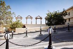 城市宫殿的部分的看法在乌代浦 库存照片