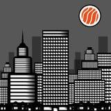 城市寿司的传染媒介例证 免版税库存图片