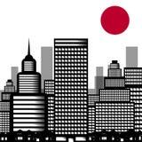 城市寿司的传染媒介例证 库存照片