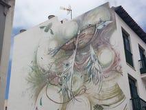 城市居民壁画 库存图片
