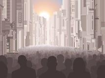 城市居民 向量例证