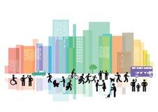 城市居民 库存图片