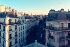 巴黎 城市屋顶的看法 免版税库存图片