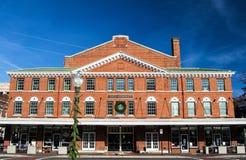 城市市场大厦的看法在罗阿诺克,弗吉尼亚,美国 图库摄影