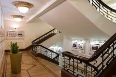 城市市场楼梯,里加主要市场 库存照片