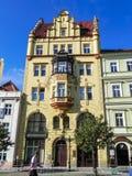城市布拉格的吸引力 雕象和纪念碑 历史大厦 免版税图库摄影