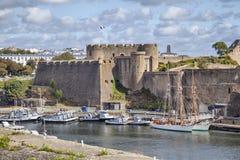城市布雷斯特,布里坦尼老城堡  免版税图库摄影
