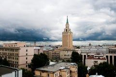 城市希尔顿旅馆leningradskaya莫斯科 库存照片