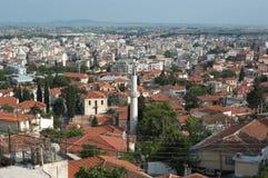 城市希腊全景xanthi 免版税库存照片