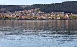 城市希腊ioannina湖 库存照片