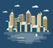 城市平的例证 图库摄影