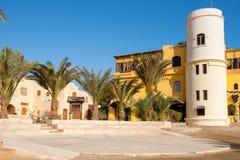 城市广场。El Gouna,埃及 库存图片