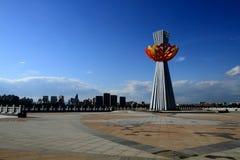 城市广场雕塑 图库摄影