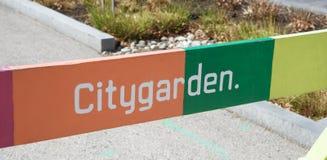 城市庭院,街市圣路易斯,密苏里 免版税图库摄影
