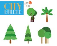 城市建造者设置了10 :树和自然 皇族释放例证