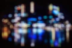 城市弄脏了bokeh光夜视图,抽象背景 图库摄影