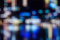 城市弄脏了bokeh光夜视图,抽象背景 库存图片