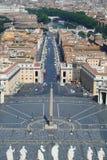 城市彼得s方形st梵蒂冈 免版税库存照片