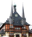 城市德国大厅wernigerode 库存照片