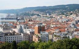 城市意大利语的里雅斯特 免版税库存图片