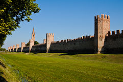 城市意大利montagnana围住了 免版税图库摄影
