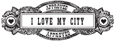 城市我爱我 库存例证