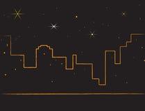 城市我的夜生活 免版税库存图片