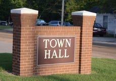 城市或自治市的城镇厅 免版税库存照片