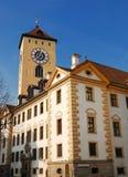城市房子雷根斯堡 免版税库存图片