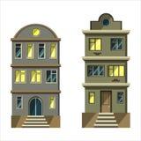 城市房子 向量例证