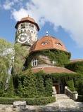 城市手段Svetlogorsk直到1947年-德国城市Rauschen 历史建筑-塔温泉 免版税图库摄影