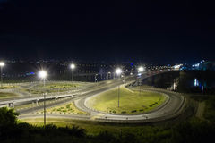 城市拉脱维亚晚上里加城镇 库存照片