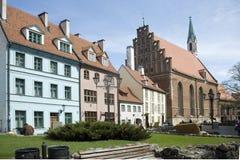 城市拉脱维亚老里加 库存图片