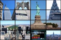 城市拼贴画纽约 免版税库存照片