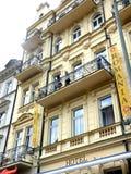 城市捷克karlovy共和国塔变化视图 库存照片