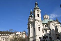 城市捷克karlovy共和国塔变化视图 免版税库存照片