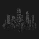 城市摩天大楼传染媒介背景 免版税库存图片