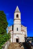 城市教会在一个小镇Trpanj在南达尔马提亚 免版税库存图片