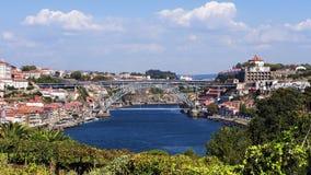 1996年城市文化遗产全景波尔图科教文组织世界 葡萄牙 库存照片