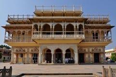 城市斋浦尔宫殿 免版税库存照片