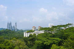 城市新加坡视图 库存照片