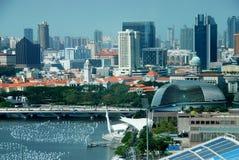 城市新加坡远景 免版税库存照片