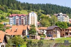 城市新星的瓦罗斯老和新房在西部塞尔维亚 图库摄影