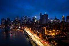城市新的业务量约克 免版税库存图片