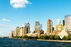 城市新的全景摩天大楼约克 免版税库存图片