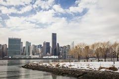 城市新的冬天约克 免版税图库摄影