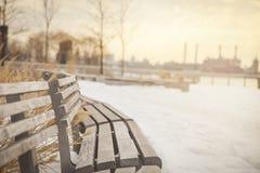 城市新的冬天约克 免版税库存图片
