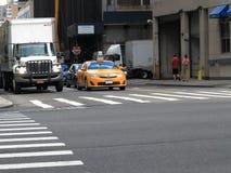 城市新的出租汽车约克 库存照片
